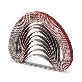 50pcs 10x330mm Zirconia Sanding Belt 40/60/80/120 Grit Aluminium Oxide Abrasive Tools