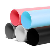 50x50cm PVC Dual Side Solid Color Photography Background Paper Video Photo Backdrop Paper White Pink Blue Black Grey