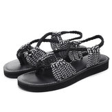 Summer Beach Braided Strap Sandals for Women