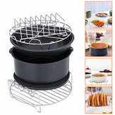 8 inch 6Pcs Sehat Air Fryer Oil Peralatan Gratis Aksesori Set Kue Pizza BBQ Barbecue Baking Cooker