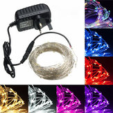 20M LED Silver Wire Fairy String Light Christmas Wedding Party Lamp 12V