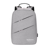 Mxzhixing 0334 Business Backpack Laptop Bag Shoulders Storage Bag with USB Waterproof Schoolbag Men Women Computer Bag -