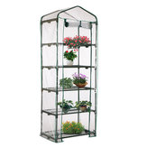 69 × 49 × 187 سم سقف قمة 5-Tiers Garden Greenhouse Hot Plant House Shed Clear PVC Cover
