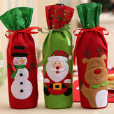 Christmas  Bottle Decor Set Santa Claus Snowman Deer Bot