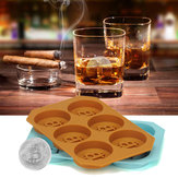 6 Grids Bitcoin Design Silicone Ice Cube Tray DIY Ice Mold Chocolate Cookies Biscuit Baking Mold Ice Cube Maker for Kitchen Whiskey Cocktail