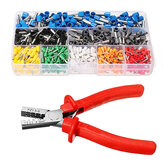 Excellway® EC02 800Pcs Insulated Wire Connector Terminal Cord Pin End Terminal Dengan Crimper Plier