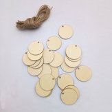 25 Pz Cerchio Legno Chips Foglio Appeso Tag Ornamento Laser Incisione DIY Art Wedding Decor