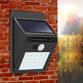 3pcs Solar Power 20 LED PIR Motion Sensor Wall Light Impermeable al aire libre Path Yard Garden Security Lámpara