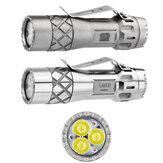 Lumintop LM10 Triple LED 2800LM 200M EDC Мощный фонарик Электронный хвостовой переключатель 18650 Тактический фонарик