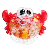 Adorable Crab Bubble Machine Muziek Bubble Maker Bad Baby Bad Douche Fun Red Plastic Toys