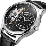 MEGIR 2017 militar Stay Quartz Watches correa de cuero Reloj Mecánico Aspecto hombres reloj