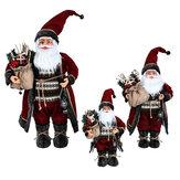 Adornos navideños Papá Noel vestido rojo muñeca presenta figura navideña modelo de juguete para decoraciones navideñas