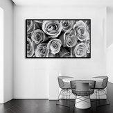 1dílná malba na plátně Obrazy Šedá růže Dekorativní tisk Umělecké obrázky Nástěnné dekorace pro domácí kancelář Bez rámečku