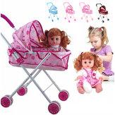 Carrinho de bebê Boneca que dobra Boneca carrinho crianças brinquedos Walker
