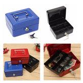النقدية المال التبعي مربع الأمن قفل قابل للغلق المعادن الآمن حالة صغيرة 150x120x80 ملليمتر