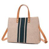 Women Linen Leisure Large Capacity Handbag Crossbody Bag