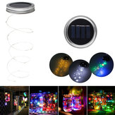Zonne-aangedreven 2M 20LEDs Mason Jar-doos Voeg Fairy String Light toe voor de kerstfeest Decor