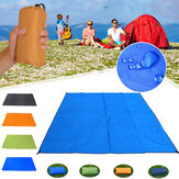 100*150CM Solid Color Waterproof Pocket Outdoor Picnic Camping Mat Sand Free Beach Blanket Picknick Moisture-proof Tent Ground Mattress