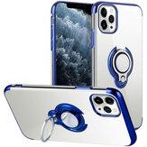 İPhone 12 için Bakeey Pro/12 Kılıf Kaplama Şeffaf Halka Tutuculu Darbeye Dayanıklı Soft TPU Protective Kılıf Arka Kapak