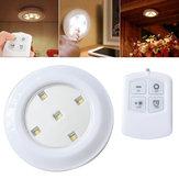 Wireless Controle Remoto Bright LED Night Light Bateria Lâmpada de teto alimentado para gabinete de cozinha