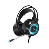 G60 Gaming Headset 7.1 Kanal 50MM Hoparlör Ünitesi Colorful Dairesel Solunum Işığı HIFI Sinema Sesi 360 ° Çok Yönlü Mikrofon