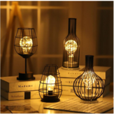 Retro Table Lamps Bedroom Living Room LED Bedside Light Modern Art  Bed Lamp Night Light Office Desktop Decoration