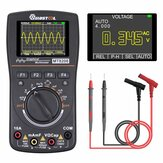 MUSTOOL MT8208 HD Intelligente grafische digitale oscilloscoop-multimeter 2-in-1 met 2,4 inch kleurenscherm 1 MHz bandbreedte 2,5 Msps Bemonsteringsfrequentie voor doe-het-zelf en elektronische tests geüpgraded van MT8206