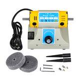 US / UE 350W Mini vitesse de machine de polissage réglable pour le kit de broyeur de banc de tour de moteur de bijoux dentaires
