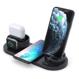 Caricabatterie wireless 4 in 1 Caricatore per orologio Caricatore per auricolari Caricatore per auricolari Supporto per telefono per Smart Phone Serie Apple Watch Apple AirPods