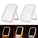 Make-up Mirror Rechargeable Light-filled Desktop Folding Portable Mirror LED Make-up Mirror with Light