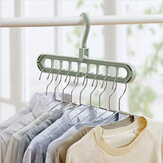 1-10 Pcs Magic Clothes Hanger 2 in 1Space Saving Closet Rotate Anti-skid Folding