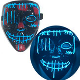 EL Luminous Mask Halloween Bloody Thriller Horror Mask Fluorescent Dance LED Mask Light Up Party Masks for Glow Party