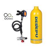 1L MIni Scuba Oxygen Cylinder Air Tank Conjunto de kit de válvula de mergulho de respiração subaquática