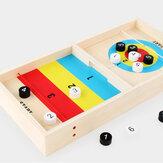 子供のギフトのための1つの木製のシャッフルボードのテーブルトップボードゲーム2の2遊びのおもちゃに付き2