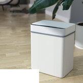 Bakeey 15L قابلة لإعادة الشحن المستشعر زر ركلة التبديل ذكي سلة المهملات التلقائي التعريفي الوجه القمامة حظر للمنزل مكتب المطبخ الحمام