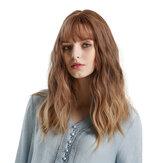 Blond jednorożec gradientowa brązowa gradientowa złota kręcona długa pełnoprawna puszysta dama pełna peruka Noś prosty trend w modzie