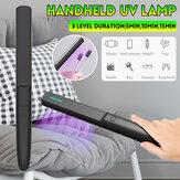 Portátil de 3 niveles UV Portátil UV Desinfección ligera Lámpara para viajes de oficina en casa