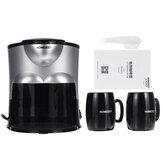 Мини-кофеварка Керамический Двойная чашка Автоматическая домашняя небольшая американская кофемашина