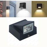 3W Sıcak Beyaz / Beyaz Su Geçirmez Outdoor LED Duvar Lamba Kapı Balkon Bahçe Yard AC85-265V için