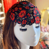 Women Hand Embroidery Vintage Cap Hollow Ethnic Style Hat