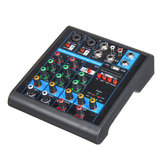 Mini 4 kanały USB Przenośny mikser audio Bluetooth Live Studio Audio miksowanie konsoli