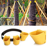 Tuinbouw TPR Fruit Tree Fixation Ondersteuningsgereedschap Plant Windbreak Protection Binding Holder Kit