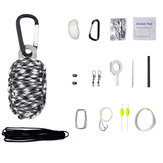 IPRee® 18 In 1 Outdoor EDC Multi-gereedschapsset Camping Emergency Survival Paracord-tas
