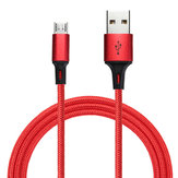 Bakeey 2.4A Micro USB Braided Fast Charging Cable 1m For Note 4 4X Samsung S7 Edge S6 Tablet