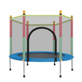 55'' Kid Jumping Trampoline Safety Net Enclosure Jump Sport Exercise Equipment Max Load 200kg