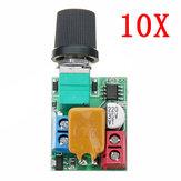 10個DC 5V To 35V 5AミニモーターPWMスピードコントローラー超小型LED調光スピードスイッチガバナー