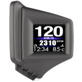 OBD GPS Duální systém HUD displej Head-up displej do auta Digitální projektor rychlosti automobilu GPS Rychloměr Alarm překročení rychlosti