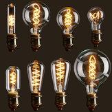 E27 С регулируемой яркостью COB LED Винтаж Ретро Промышленные Edison Лампа Внутреннее освещение Лампа накаливания AC110V