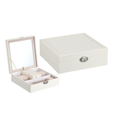 Perhiasan Watch Diamond Necklace Box Storage Case Dengan Cermin