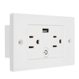 USB Smart Socket Wall Switch Voice Control Timer Switch Remote Control Wall Outlet Switch US Plug Socket